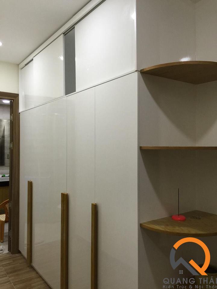 Nội thất phòng ngủ căn hộ Mỹ Phú sang trong, bắt mắt và đầy ấm cúm.