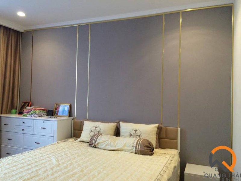 Phòng ngủ nội thất căn hộ Vinhome - Mr Ái hiện đại, sang trọng.