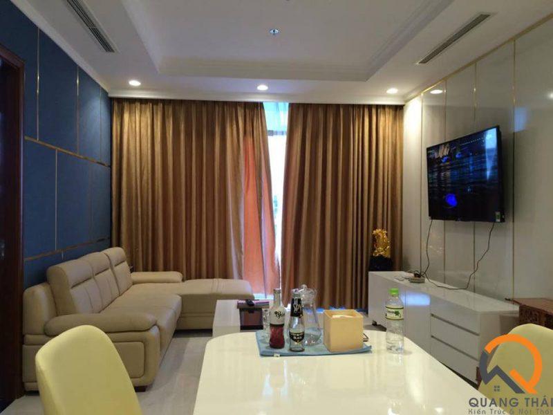 Phòng khách nội thất căn hộ Vinhome Central Park Bình Thạnh - Mr Ái