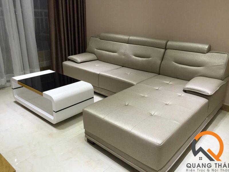 Nội thất phòng khách căn hộ Mỹ Phú sang trong, bắt mắt và đầy ấm cúm.