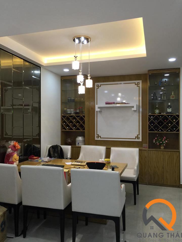 Nội thất phòng bếp căn hộ Mỹ Phú sang trong, bắt mắt và đầy ấm cúm.