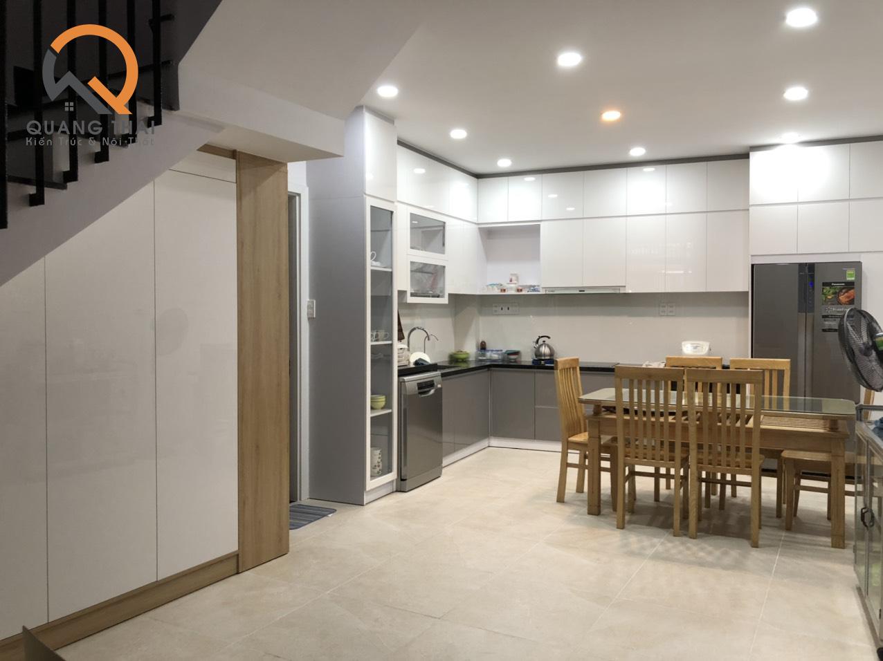 Thi công hoàn thiện nội thất nhà phố Tân Bình
