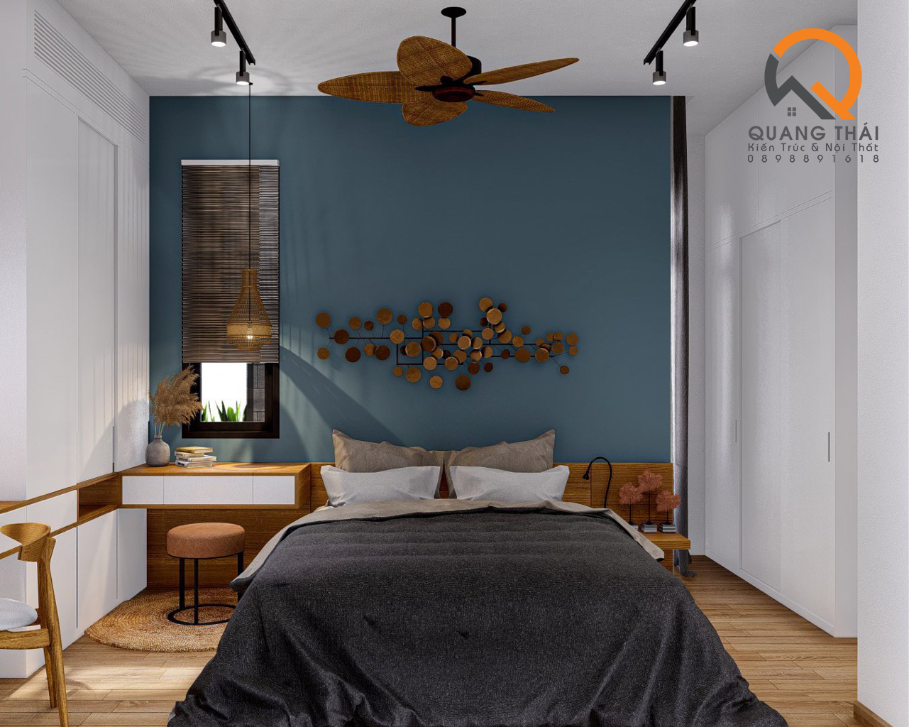 Nội thất khu vực phòng ngủ đep hiện đại