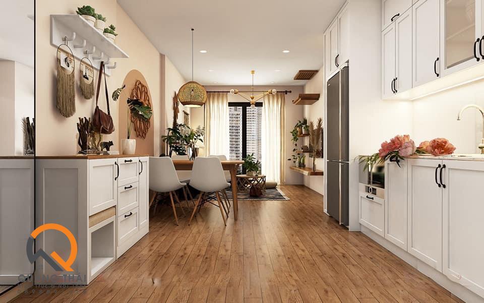 Khu vực bếp nội thất handmade
